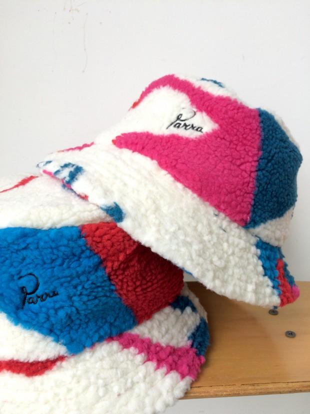 parra sherpe fleece bucket hat